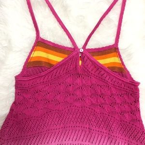 Free People Sunset Ombre Crochet Knit Tank Top